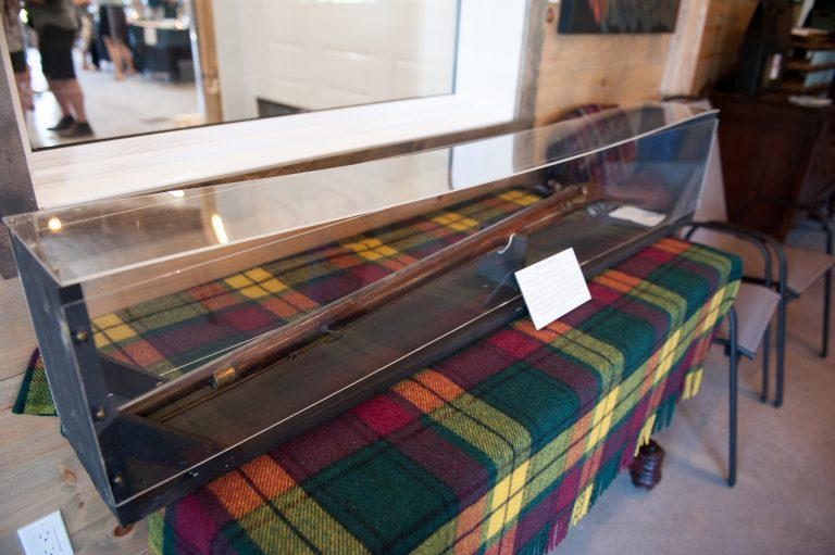 Musket of John Roy MacMillan - on loan from Nor'Westers & Loyalist Museum for the day